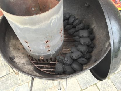 Minion-Ring im Weber-Grill